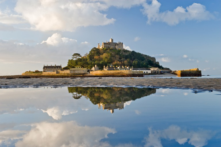 St Michaels Mount off the coast of Cornwall, England