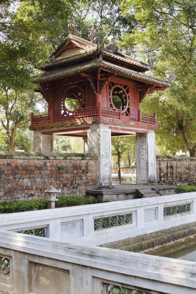 The temple of Literature or Van Mieu, a temple built in 1070 in honor of Confucius, Hanoi, Vietnam.