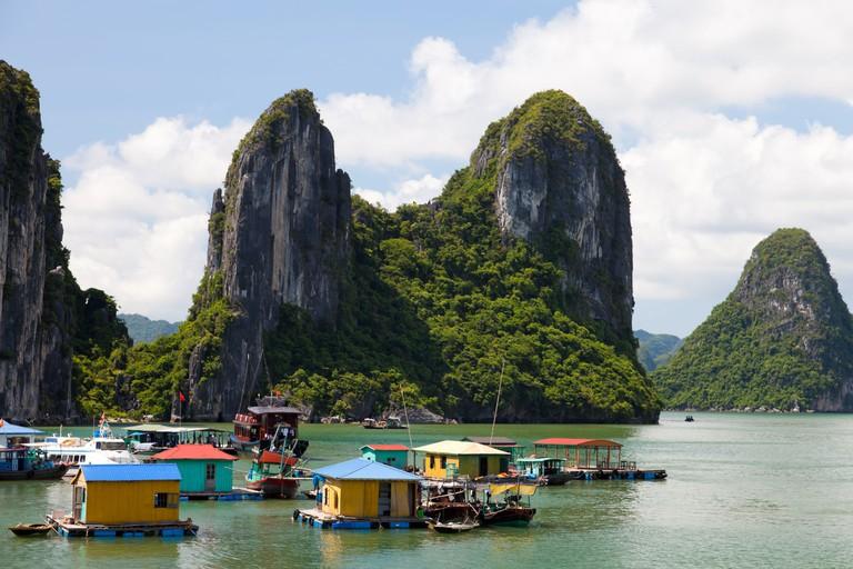 Floating villas in Vietnam