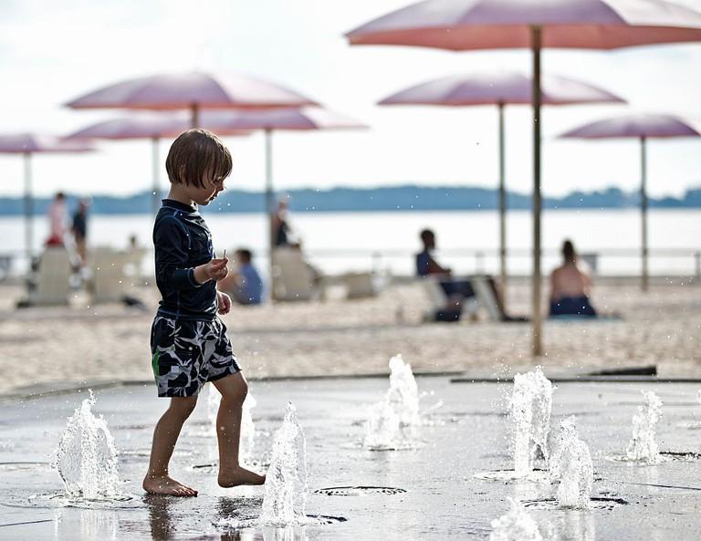 Child At Toronto's Sugar Beach