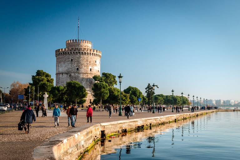 The white tower, Thessaloniki city, Greece