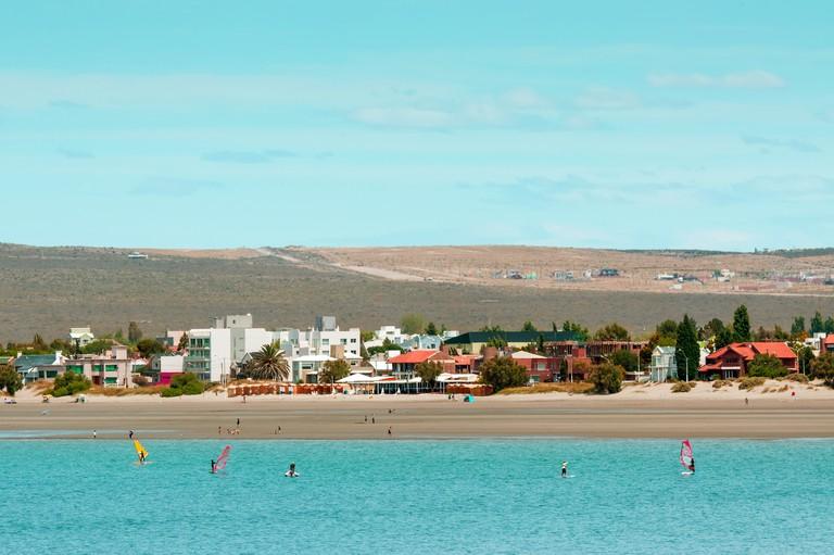 Coastline in Puerto Madryn, Argentina
