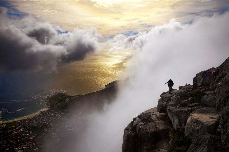 The view of Table Bay from Table Mountain, Cape Town, South Africa