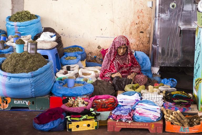 The Souk El Had market