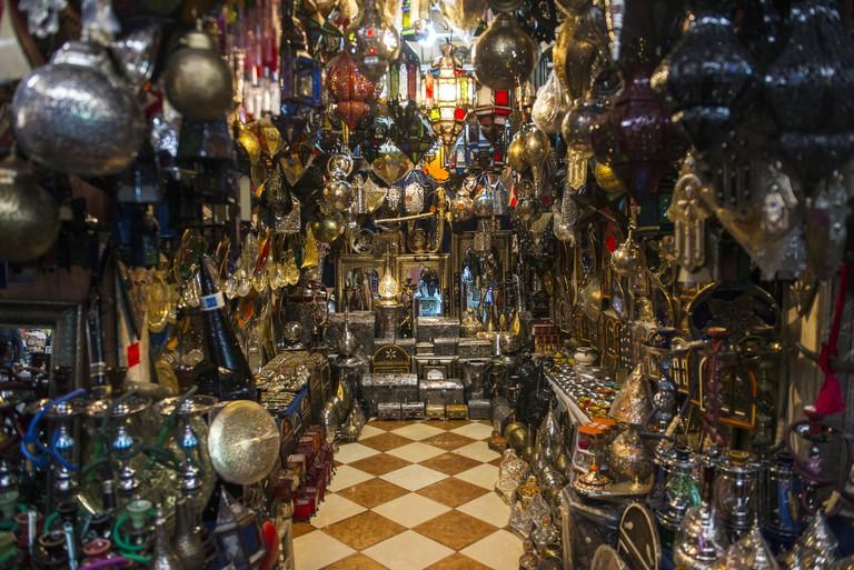 Souvenirs sold on the Souk El Had market in Agadir