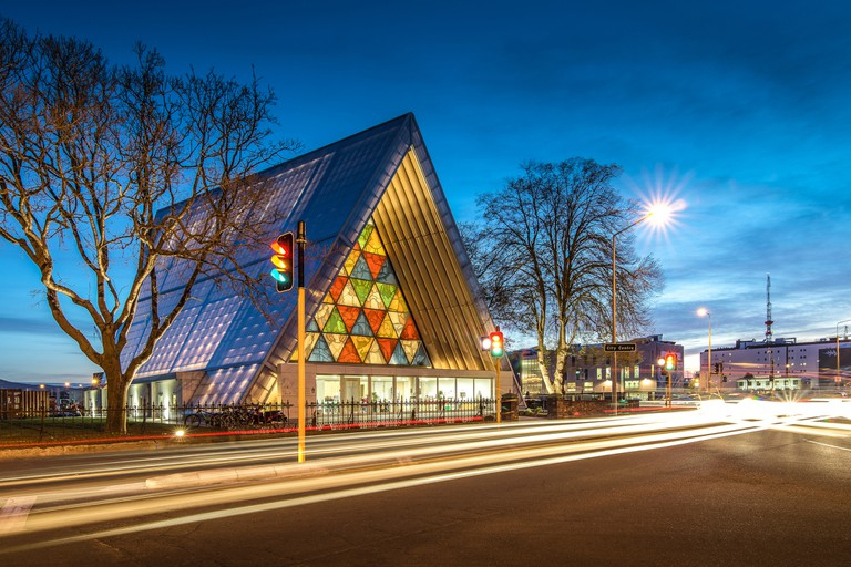 Cardboard cathedral in Christchurch, New Zealand