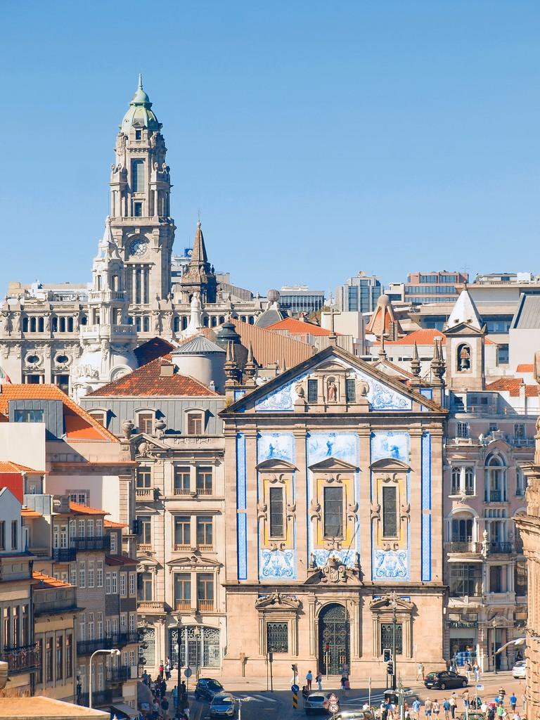 San Antonio dos congregados church and Sao bento train station, Porto.