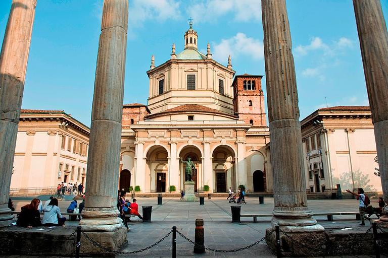 Italy. Milan. Colonne San Lorenzo. San Lorenzo Maggiore Basilica