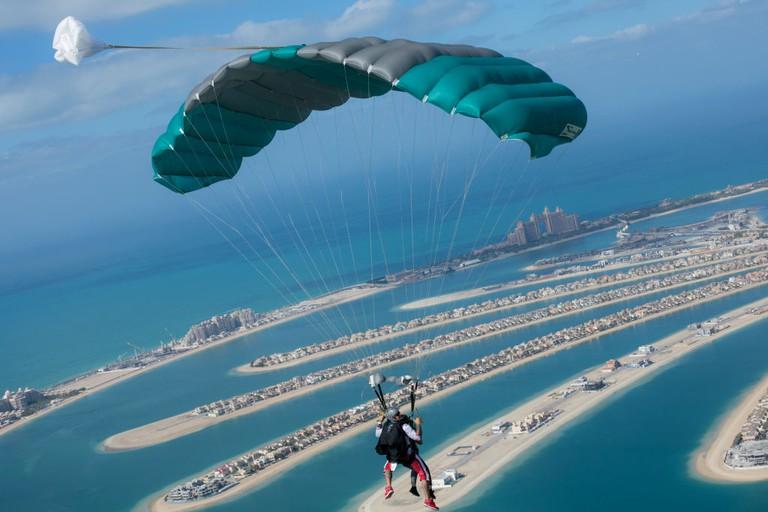 Skydiving in Dubai | Tandem Under Canopy