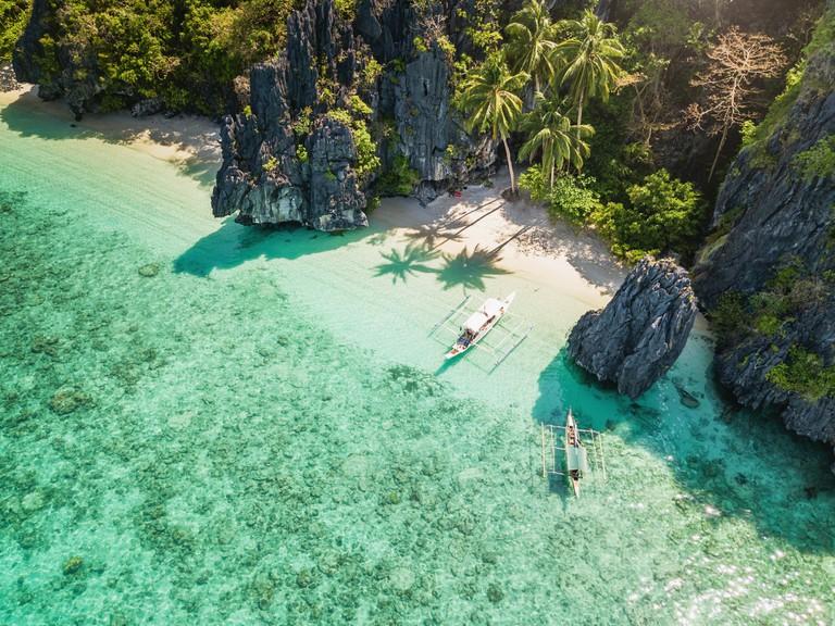 Palawan El Nido Entalula Island Beach Philippines