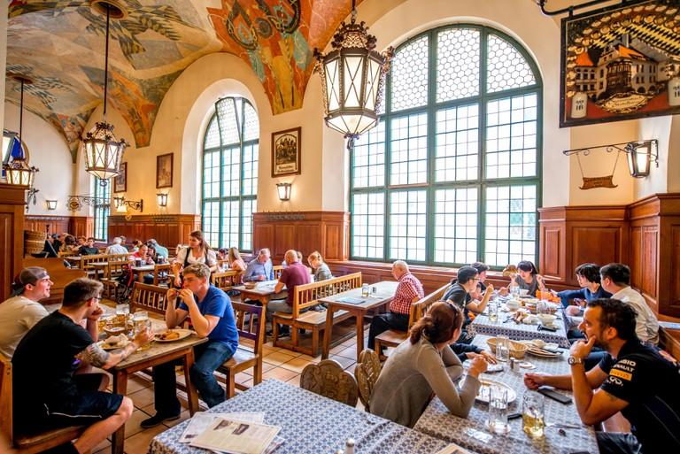 Hofbrauhaus interior in Munich