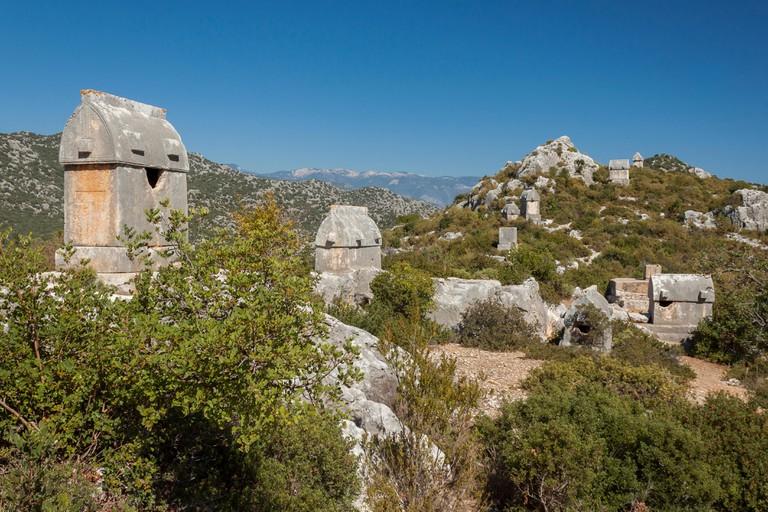 Lycian Tombs near Kalekoy, Turkey
