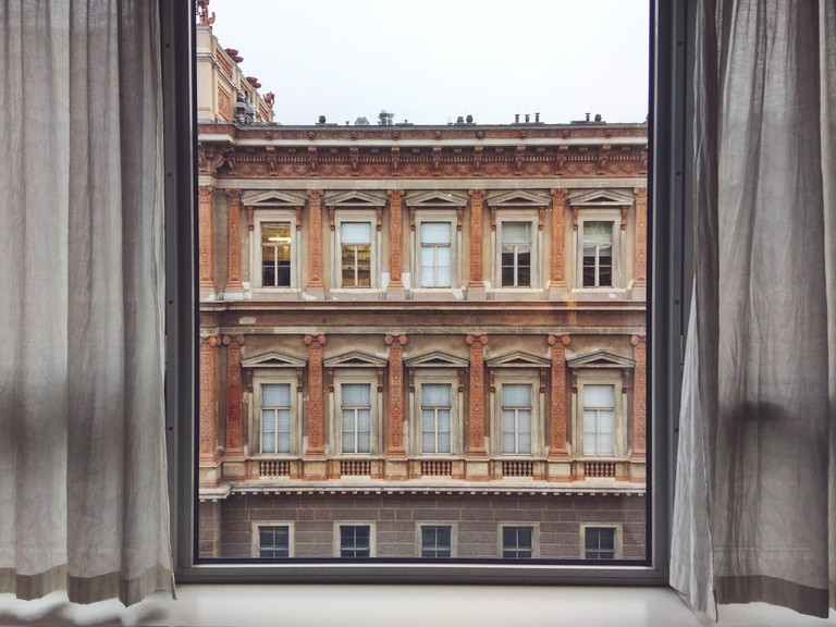 View of Vienna Academy of Fine Arts From Inside House.