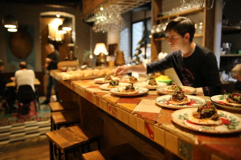 Tapas dishes at g.Vino