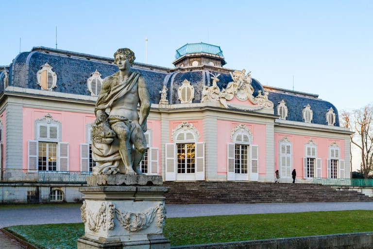 Dusseldorf, North Rhine-Westphalia, Germany - January 22 2017 Castle Benrath