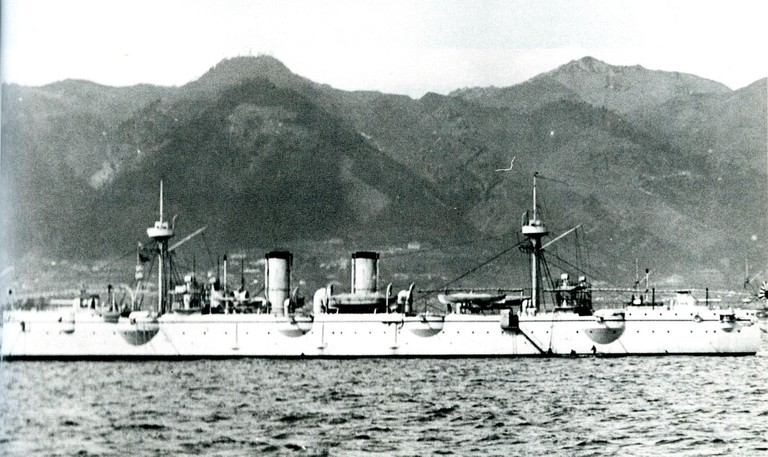 Japanese cruiser Akitsushima in 1897