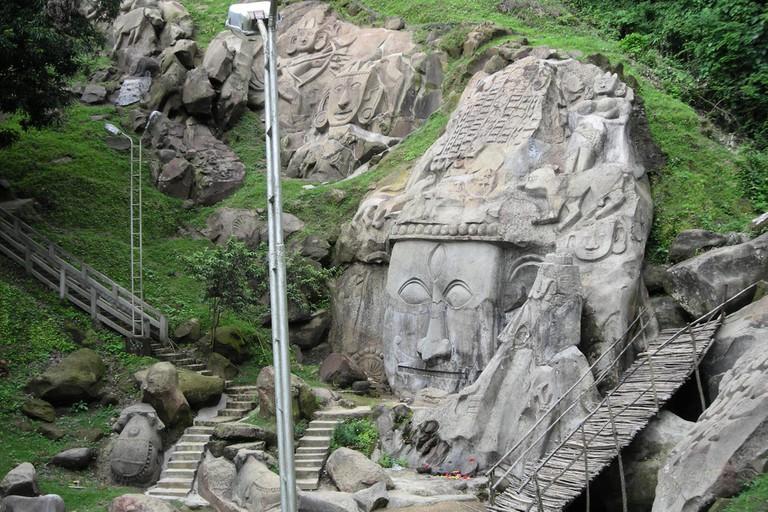 Unakoti group of bas relief sculptures,Tripura,India
