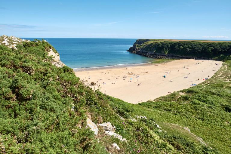 Barafundle Beach,Bay near Stackpole,Pembrokeshire,Wales,U.K
