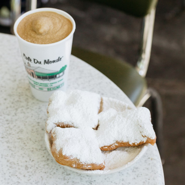 Head to a coffee shop in the Warehouse District