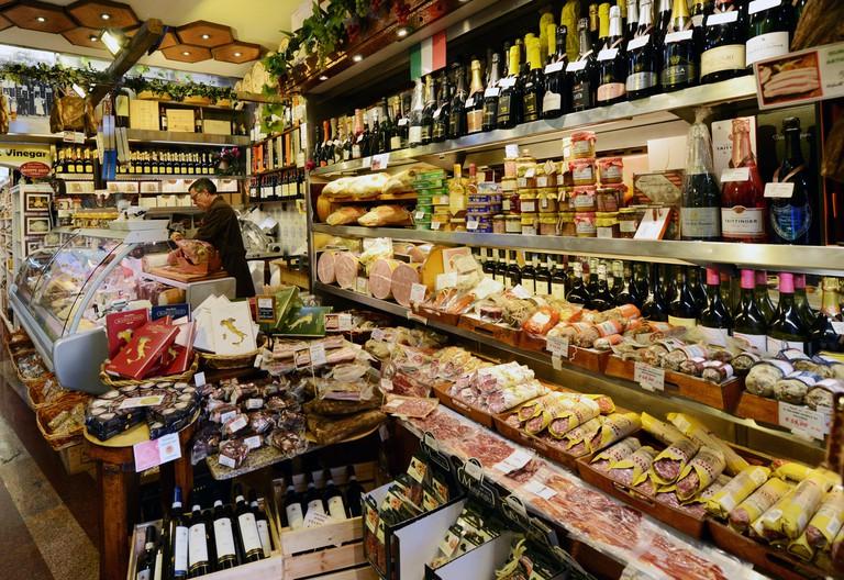 Antica Salumeria Volpetti shop in Rome.