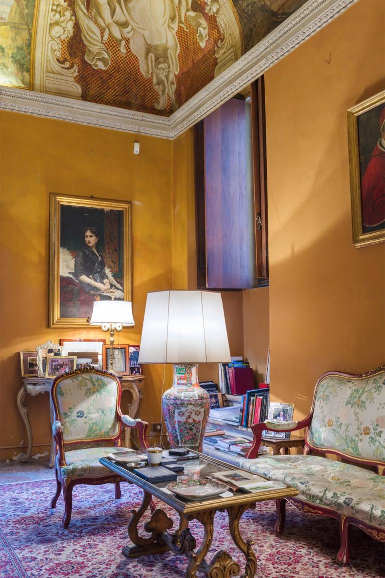 Fresco painting, Casino Ludovisi interior, Via Aurora, Rome, Lazio, Italy