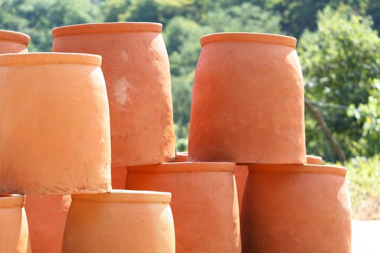 Georgian jugs used for making wine (kvevri)