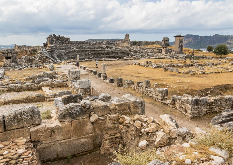 Letoön, a religious sanctuary dedicated to Zeus' lover Leto, national deity of Lycia