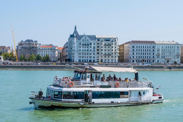 Public transport river boat, Danube, Budapest, Hungary