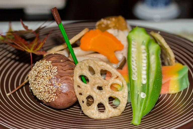 A vegetable dish from Kumamoto region