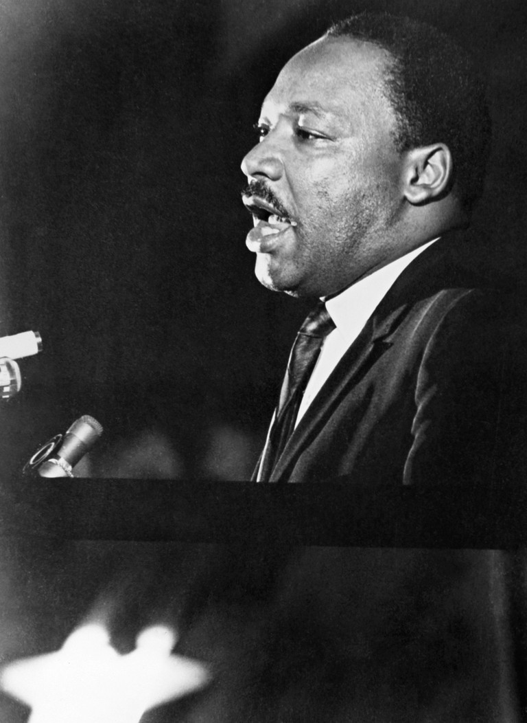 Martin Luther King, Jr. Giving His 'Mountaintop' Speech At The Mason Temple In Memphis, Tennessee.