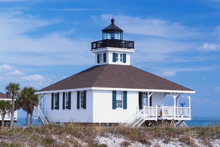Old Port Boca Grande Lighthouse was in 1890 on Gasparilla Island in Florida United States