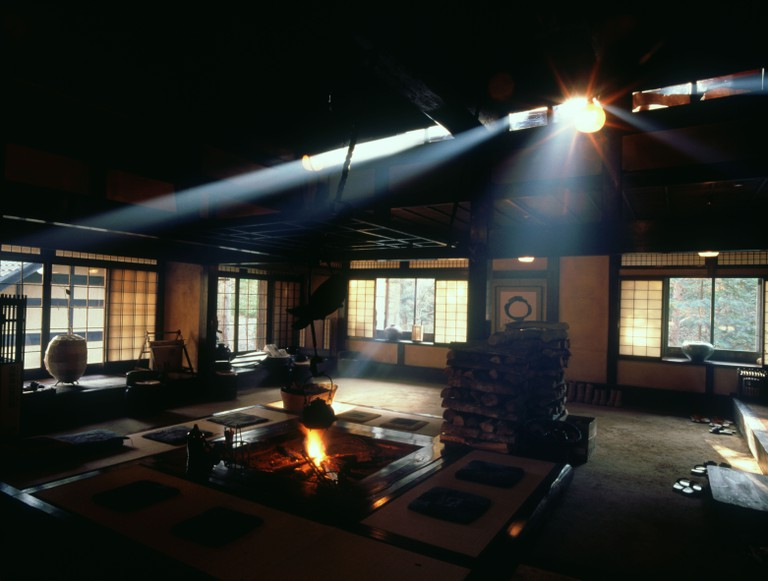 Interior of traditional ryokan in Japan
