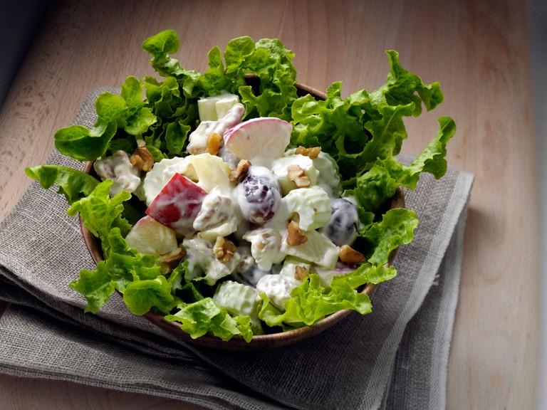 Waldorf salad editorial food