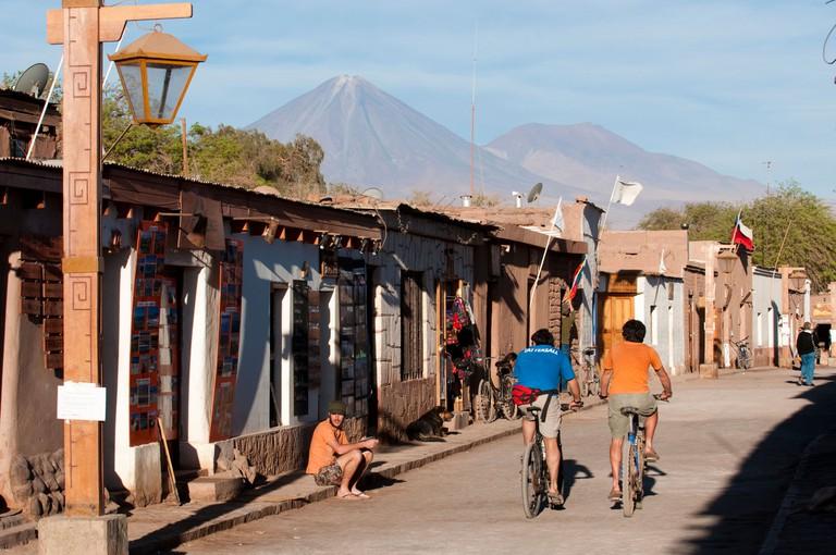 Caracoles Street in San Pedro de Atcama, Chile