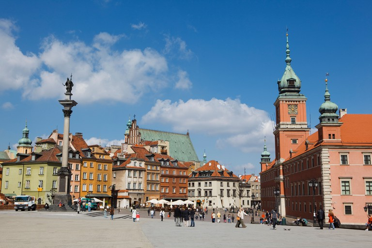 The Old Town in Warsaw, Poland
