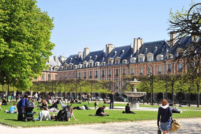 Place, de, Vosges, Paris, France. Image shot 2010. Exact date unknown.