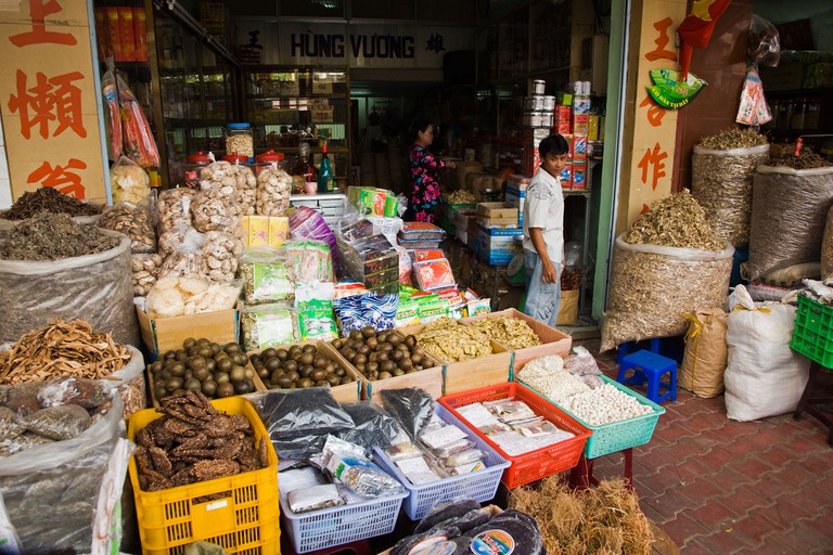 Chinese traditional food and medicine shop on Hai Thuong Lan Ong Street