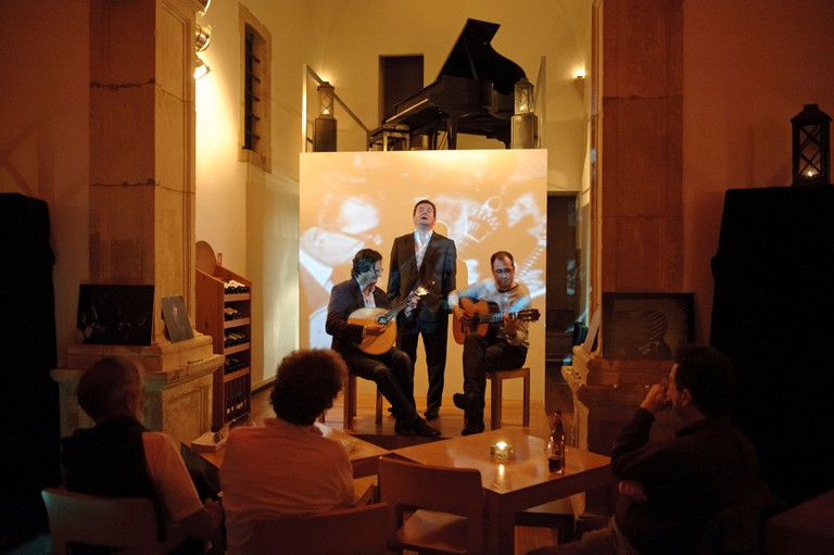 Fado singing bar in Portugal