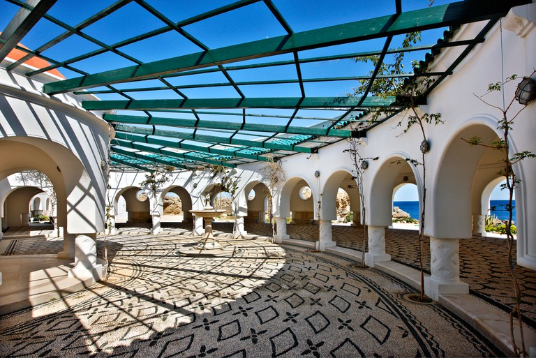 One of the Rotondas of Kalithea springs, close to the town of Kalithea, Rhodes island, Dodecanese, Greece