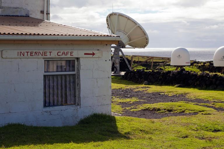 Internet Cafe, Edinburgh of the Seven Seas, Tristan da Cunha, South Atlantic Ocean