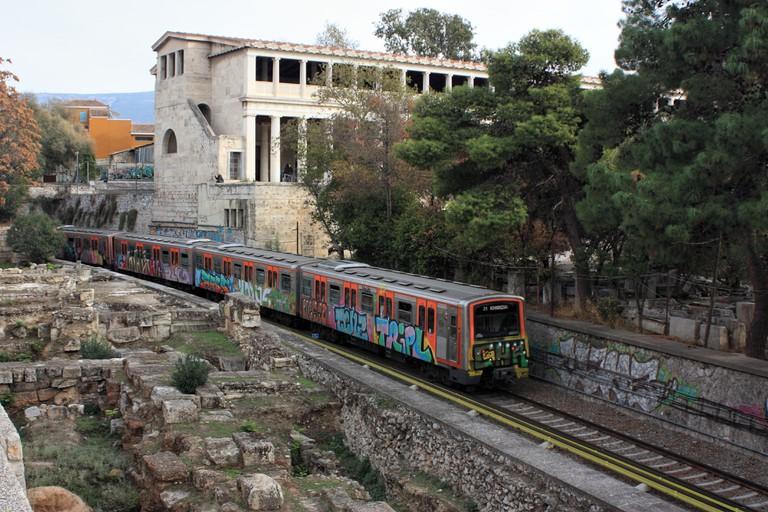 Athens metro train