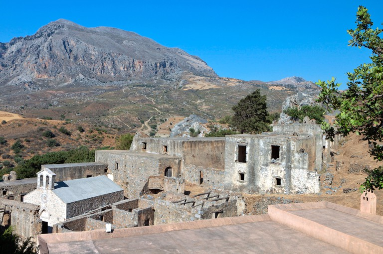 Monastery of Ayios Ioannis Prodromos at Preveli in Greece