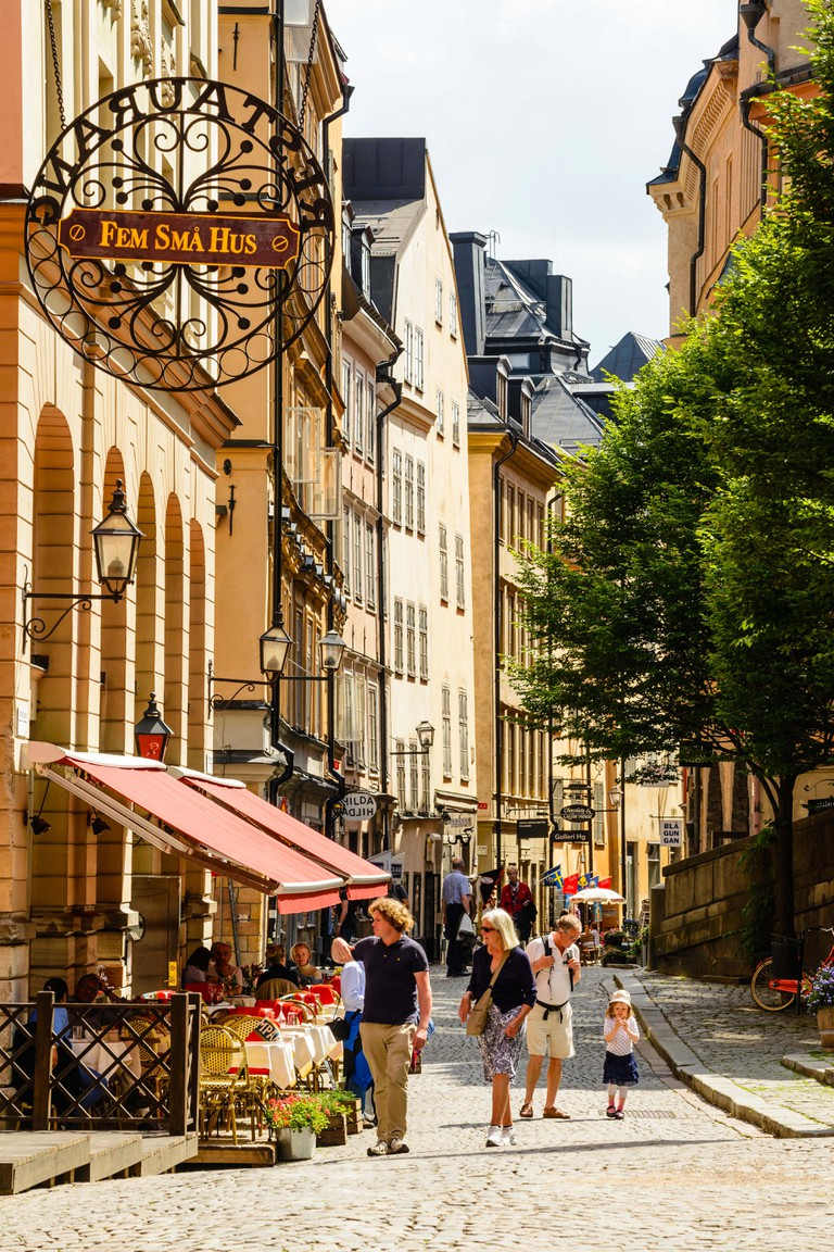 Street in Gamla Stan (Old Town) Stockholm Sweden. Image shot 07/2013. Exact date unknown.