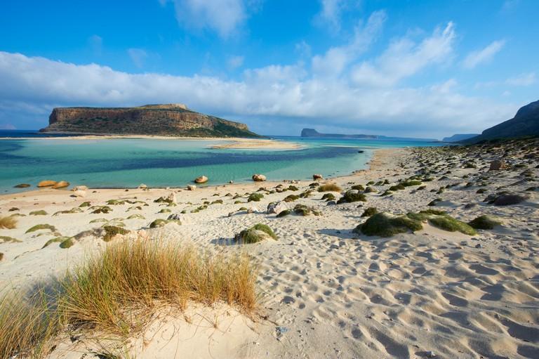 Greece, Crete Island, Chania, Gramvousa, Balos bay and Gramvousa island