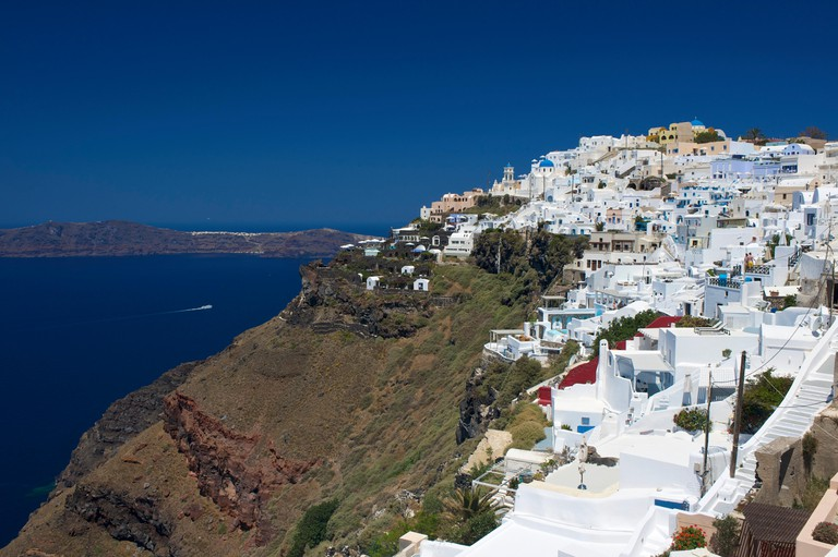 View of Imerovigli, Santorini, Cyclades, Greece