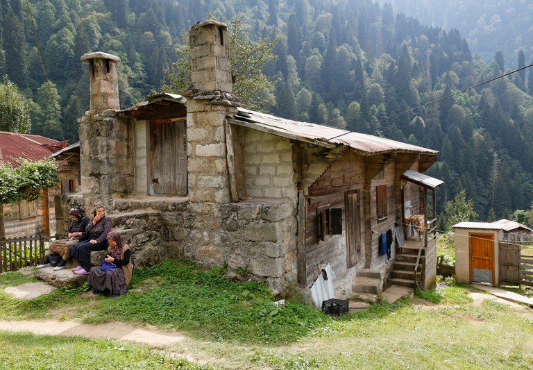 Almhaus in Ayder, Pontic Mountains, Black Sea Region, Turkey