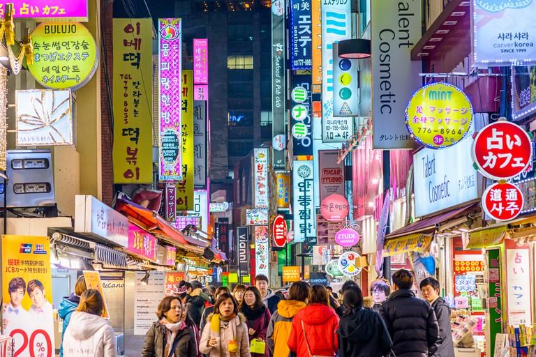 View of Seoul's nightlife