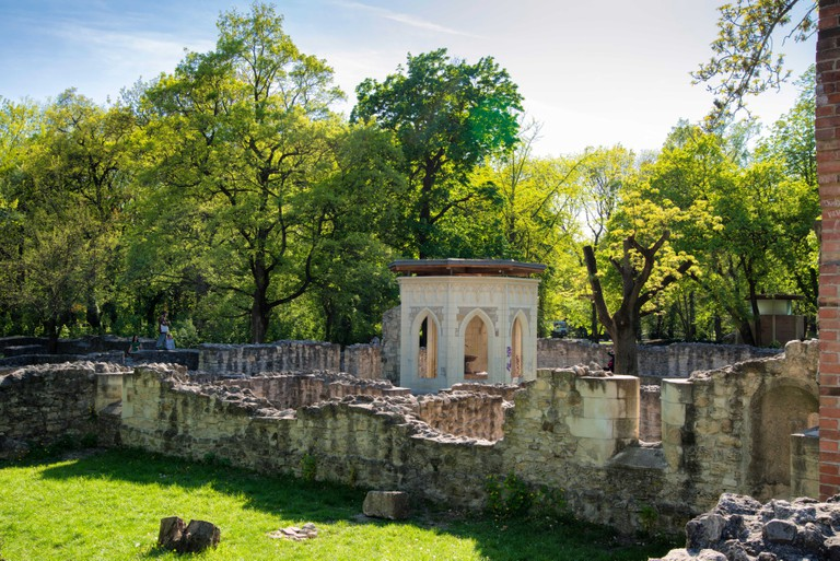 Ruins of the Dominican convent Domonkos kolostor, Margaret Island, Budapest, Hungary