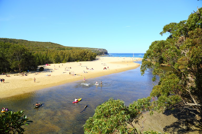 Wattamolla lagoon and beach in the Royal National Park