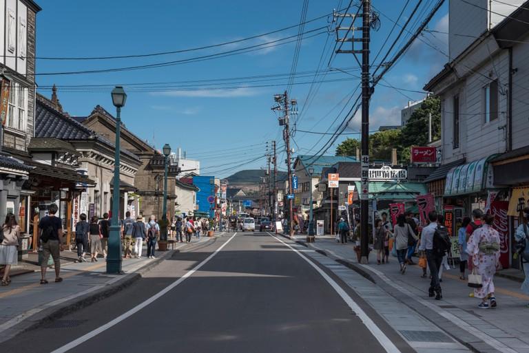 Sakaimachi Shopping Street in Otaru, Hokkaido, Japan